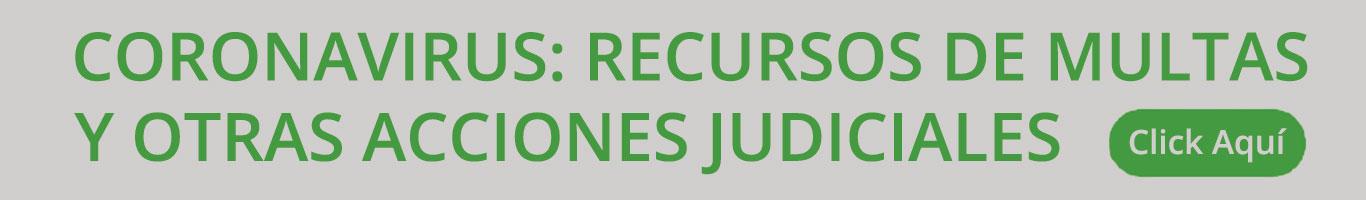 coronavirus recursos de multas y otras acciones judiciales